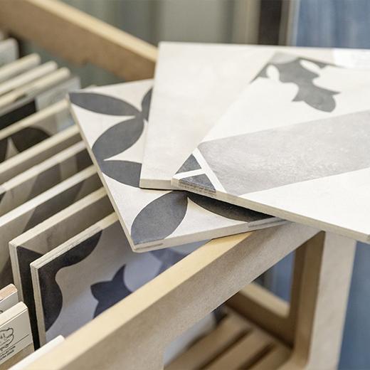 Baeuerle Baustoffe Ornamentfliesen Ausstellung