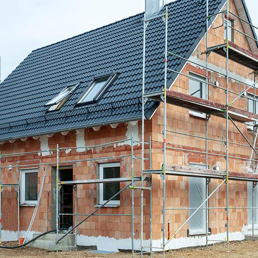 Baeuerle Baustoffe Haus im Rohbau