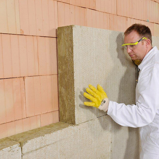 Baeuerle Baustoffe Wanddämmung im Rohbau