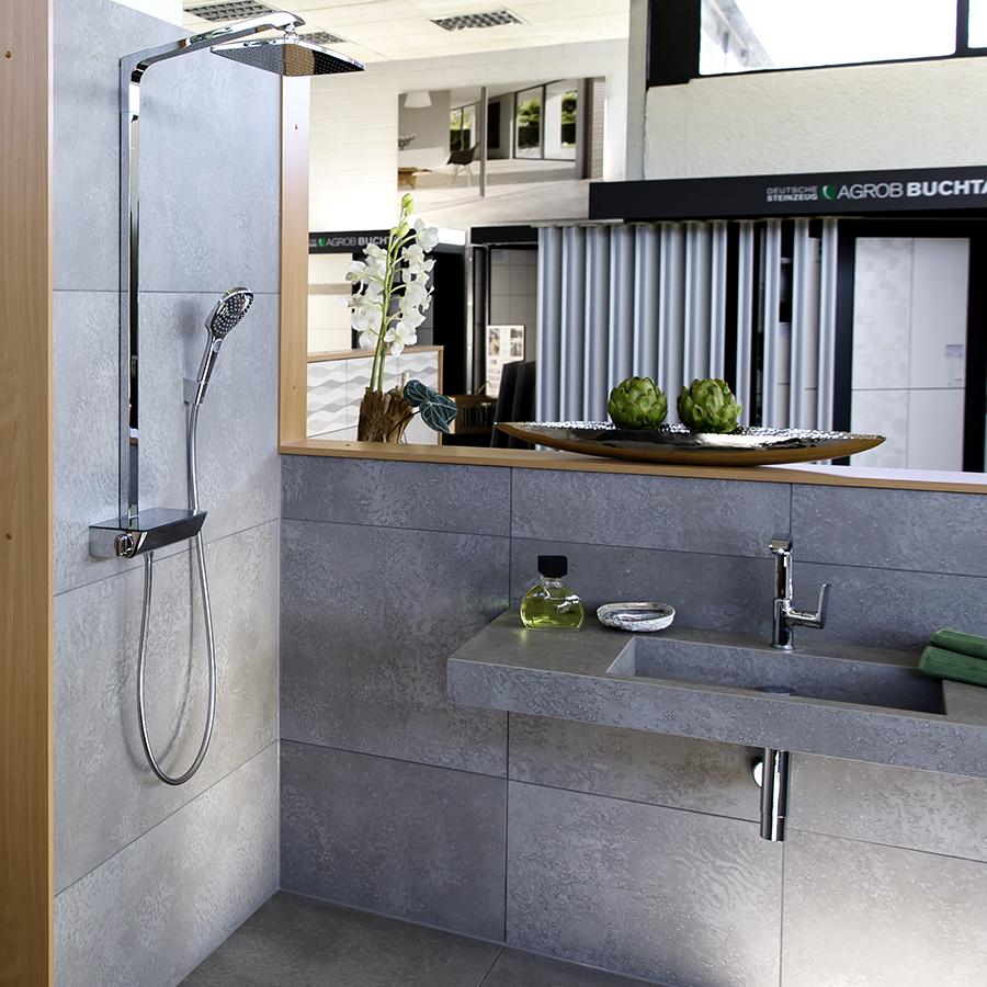 Baeuerle Baustoffe Ausstellung Fliesen Dusche